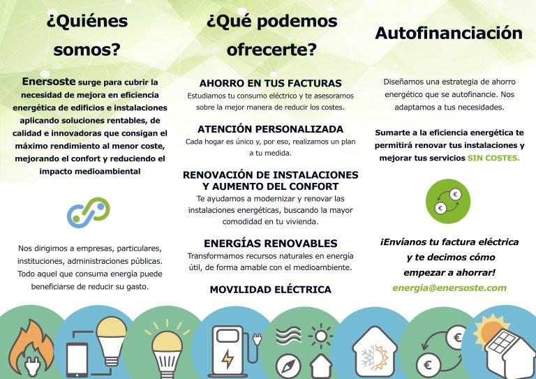 tríptico - autoconsumo - energías renovables- particulares - Segorbe - Enersoste