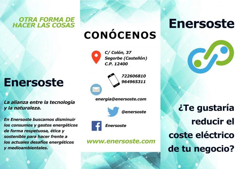tríptico - autoconsumo - energías renovables- negocios - Segorbe - Enersoste