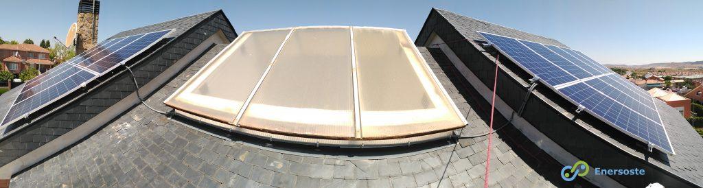 panorámica instalación solar fotovoltaica - Enersoste Energías Renovables Segorbe