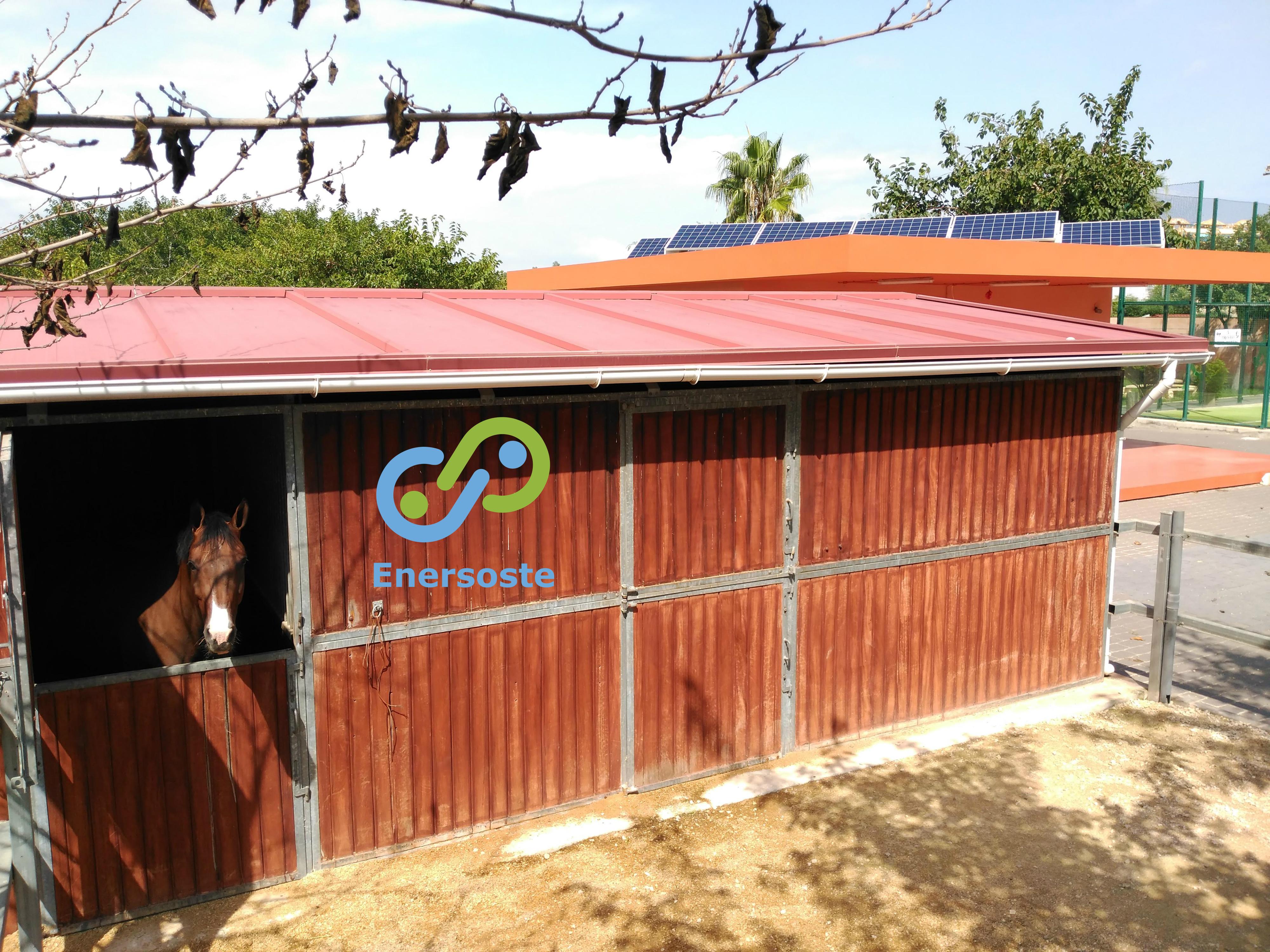Instalación fotovoltaica de autoconsumo en una yeguada en Gandía