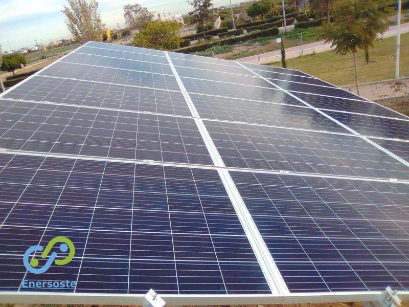 Energía solar en el parque canino de Albalat dels Sorells