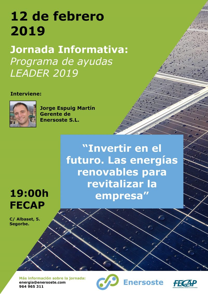 Enersoste y FECAP organizan una jornada informativa