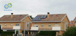 instalación de placas solares en casa de Rocafort, Valencia. Enersoste Energías Renovables