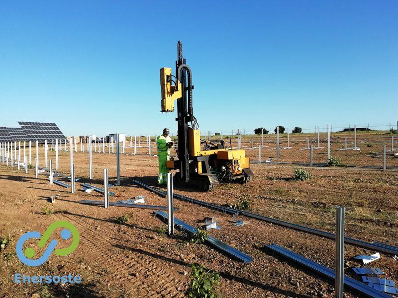 Parque solar en ejecución en Fermoselle (Zamora)