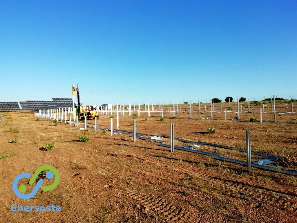Parques solares. Parque solar en Zamora. Enersoste