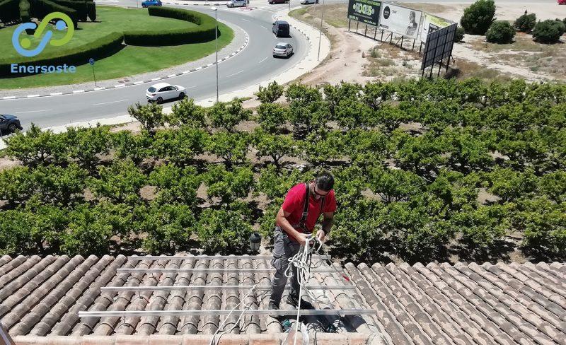 Instalación de placas solares en Albalat dels Sorells