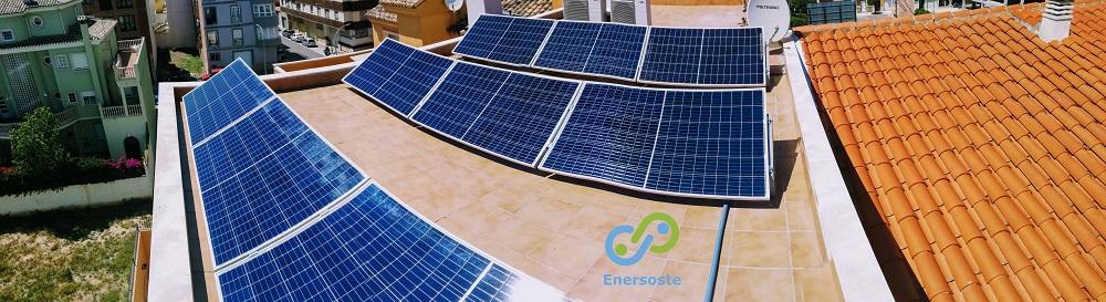 Instalación de autoconsumo solar. Enersoste.
