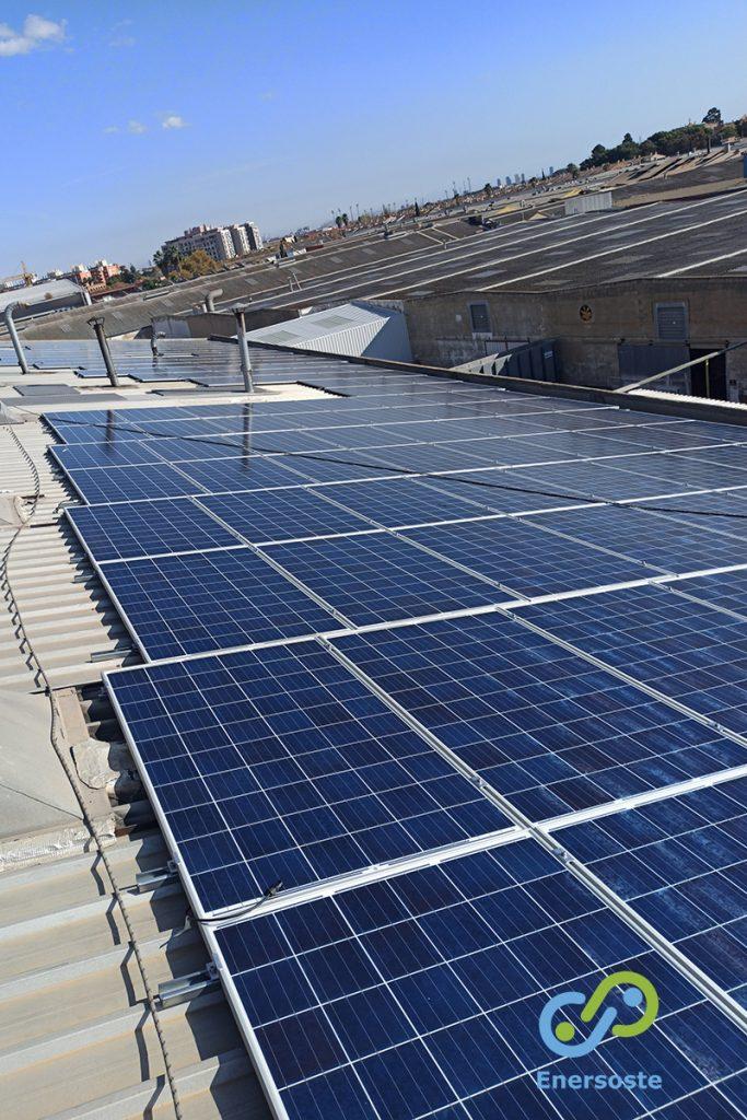 Energía solar en industria. Enersoste.