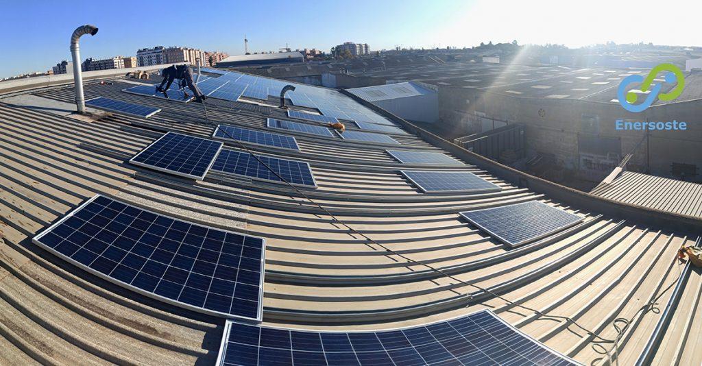Instalación fotovoltaica industrial Enersoste.