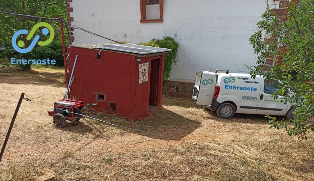Placas solares casa de campo
