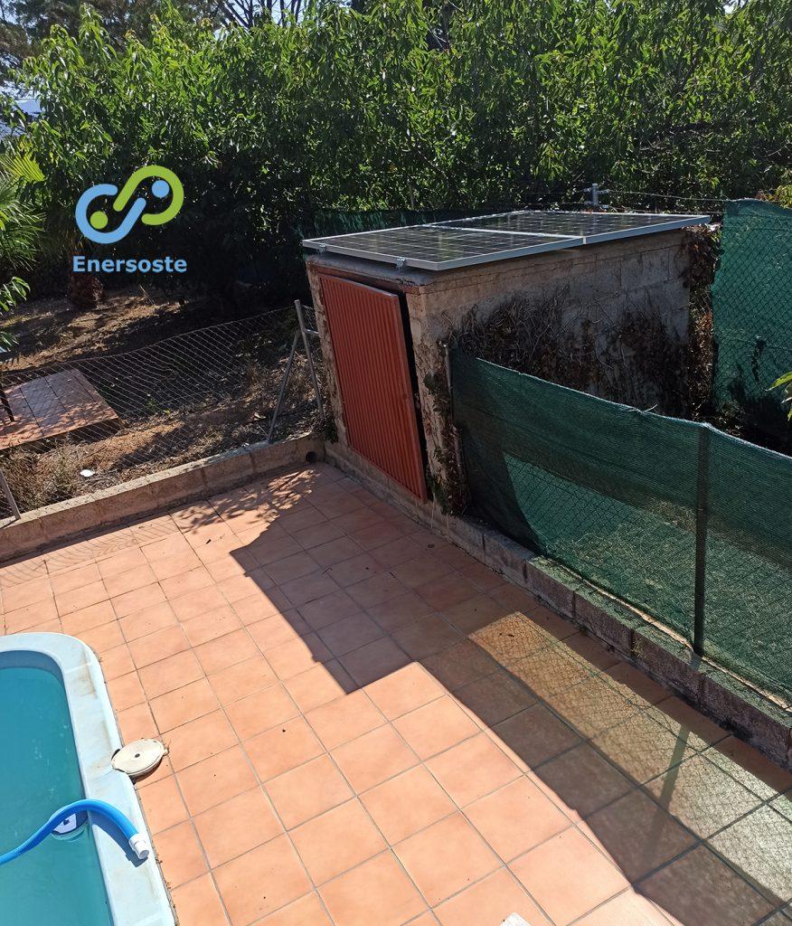 Placas solares en casa de campo en Segorbe