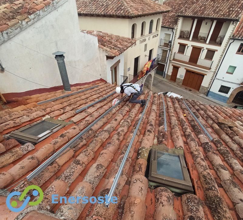 San Agustín (Teruel) instala energía solar para el municipio