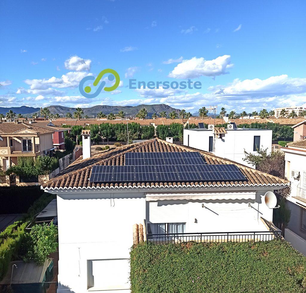 Instalación placas solares en El Puig (Valencia) Enersoste