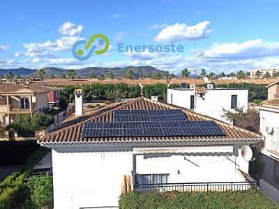 Placas solares en vivienda unifamiliar en el Puig (Valencia)