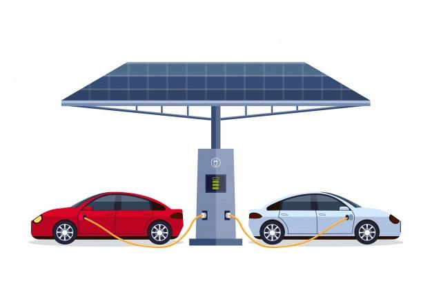 Carga vehículos eléctricos con placas solares